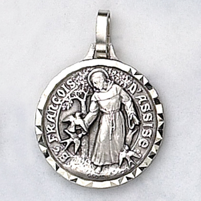 f98c4954181 St. Francis of Assisi Medal (Nickel Silver) - St. Andrew's Book ...