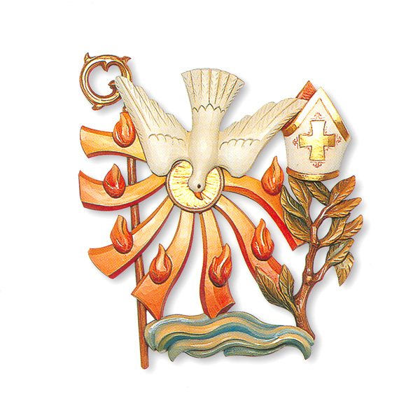 Confirmation Seven Sacraments Symbol 34 Relief In Linden Wood St