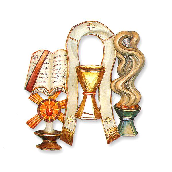 Holy Ordersordination Seven Sacraments Symbol 34 Relief In Linden
