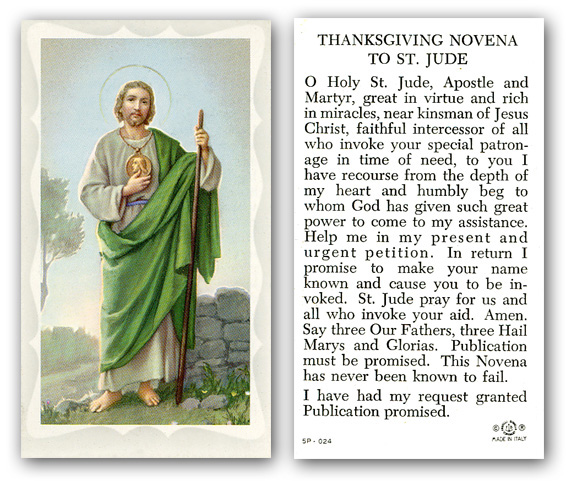 88bf237b01b Thanksgiving Novena to St. Jude