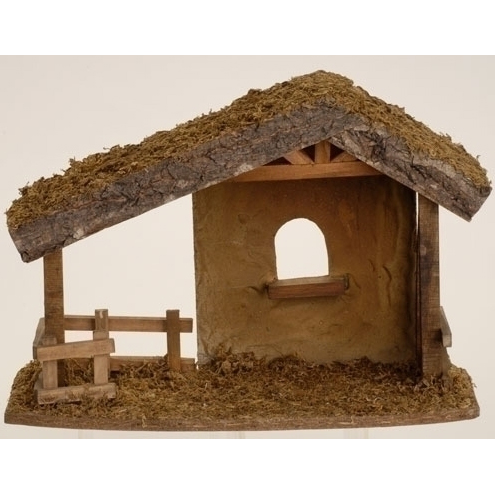 ... Clipart Fontanini italian christmas nativity stable (5) - st