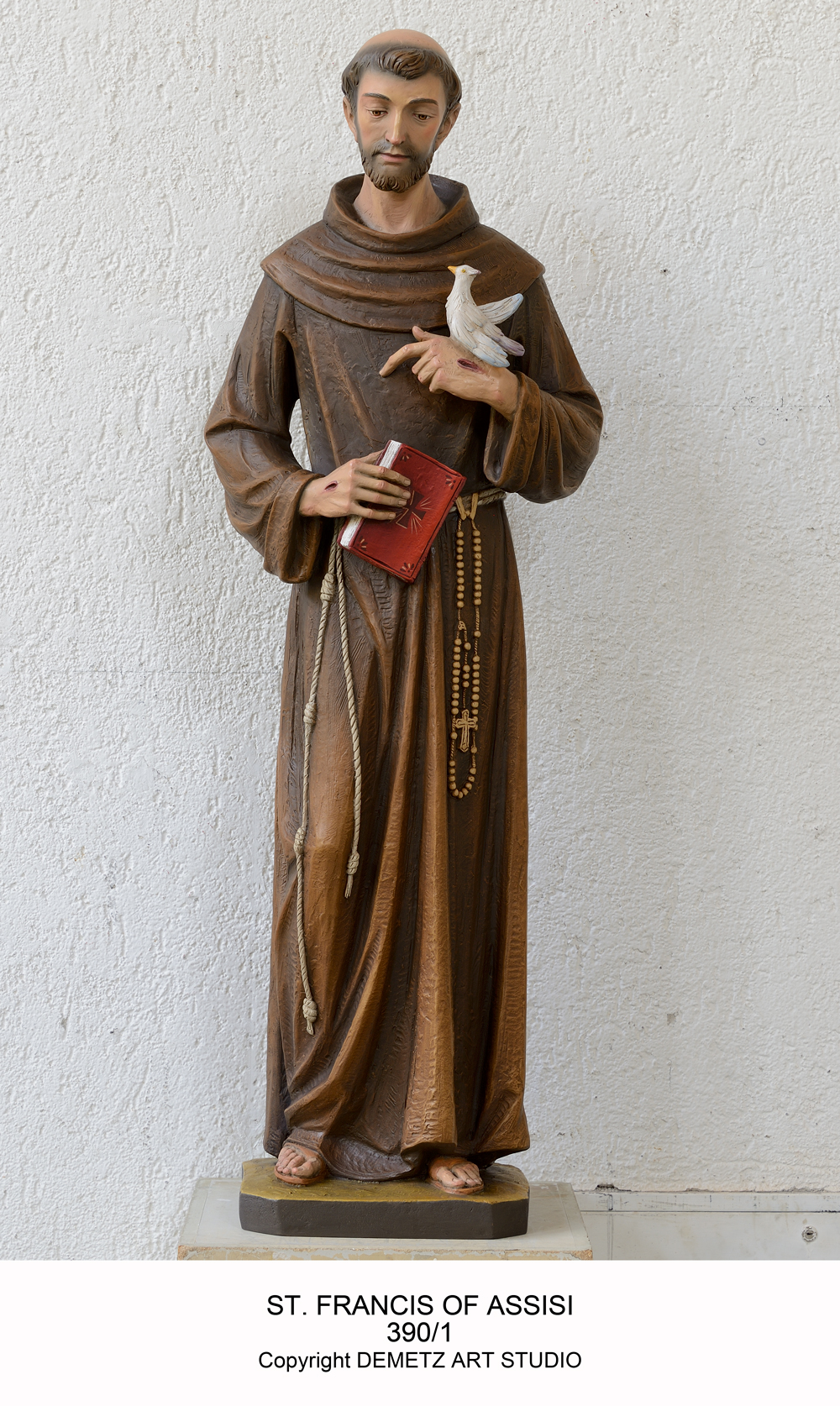 St Francis Of Assisi Statue In Linden Wood St Andrews Book
