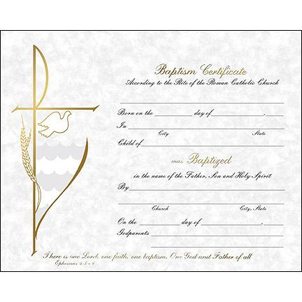 Baptism Certificate Holy Card Godparents Folder St Andrew S