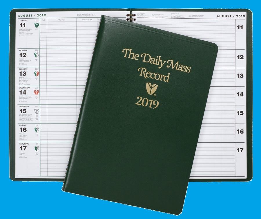 the daily mass record catholic edition for year 2019