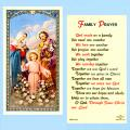 Family Prayer Holy Card: Laminated-25