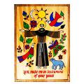 "Saint Francis Plaque (6"", 12"")"
