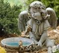 Joseph's Studio Garden Solar Angel Bird Bath