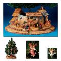 Christmas Nativity Tree Display & Shepherds Scene