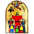 "First Holy Communion Wood Plaque from El Salvador (7"")"