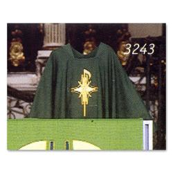 chi rho cross motif priest chasuble dupion emmaus fabric st andrew 39 s book gift. Black Bedroom Furniture Sets. Home Design Ideas