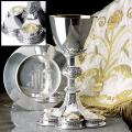 """Sacred Heart"" Chalice & Scale Paten with Ring (15 oz)"