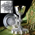 """Gothic"" Chalice & Scale Paten & Ring (14 oz)"